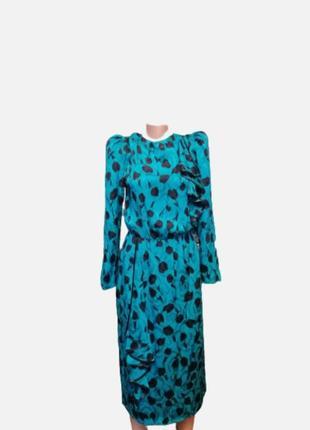 Яркое шёлковое платье винтаж 💯 натуральный шёлк