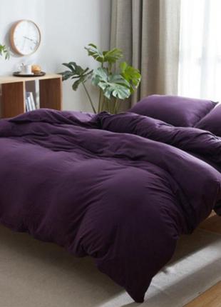 Комплект постельного белья . однотонная постель .фиолетовая