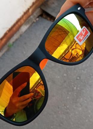 Ray ban вайфареры крутые оранжевые унисекс италия распродажа