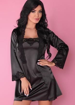 Комплект (халат и сорочка) livia corsetti fashion (польша) раз.s-3xl