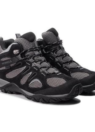 Ботинки merrell yokota 2 mid wp j46543 black оригінал мембрана , натуральна замша