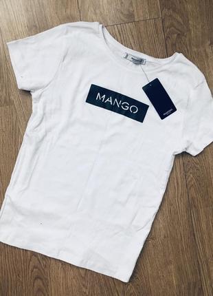 Белая футболка mango оригинал размеры
