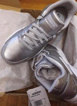 Серебрянные кросы кожа adidas chaos luxe trainers ladies новые оригинал с офф сайта