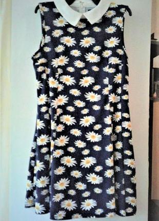 Платье милое стильное цветочный принт