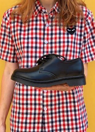 Мужские ботинки dr. martens 1461 mono black  др.мартенс 1461 моно блэк