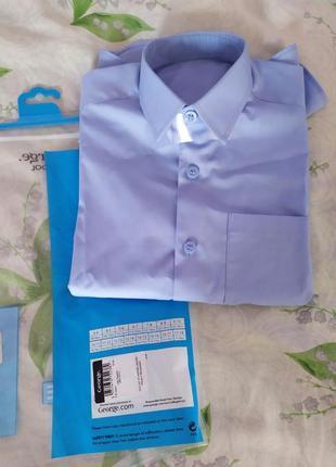 Рубашка длинный рукав на мальчика 6-7лет