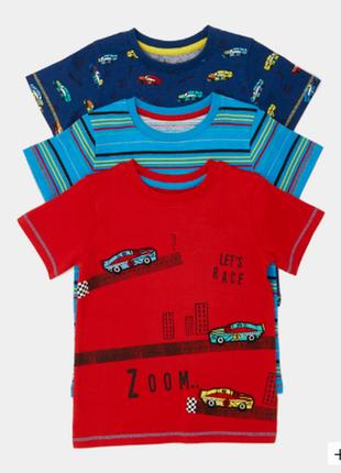 Набор футболочек 3 шт. в уп.dunnes, англия. размеры18-24,2-3,3-4 года