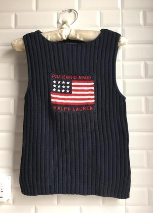 Кофта без рукавов свитер джемпер жилетка polo ralph lauren оригинал