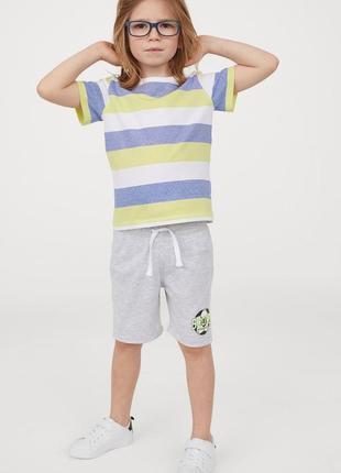 H&m хлопковые шорты, 122-134 см