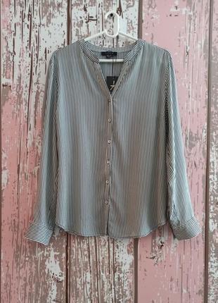 Рубашка с натуральной ткани, рубашка с принтом в полоску