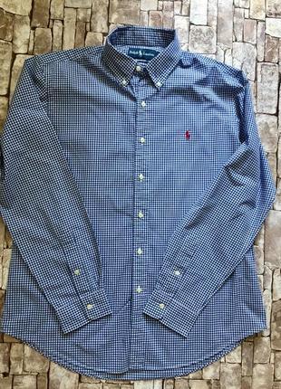 Оригинальная рубашка в стильную клетку ralph lauren