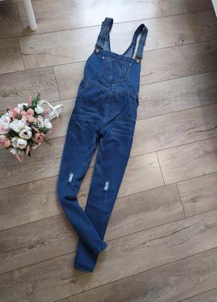 Стильний джинсовий комбінезон актуального кольру1 фото