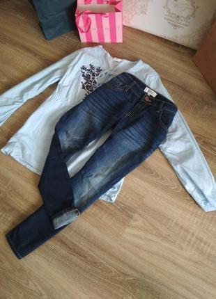 Стильные укороченные джинсы mango