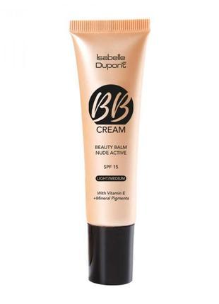 Bb крем, тоналка, тональный крем 02 оттенок isabelle dupont beauty balm nude active spf 15