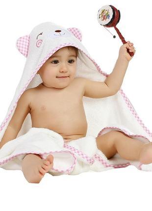 Премиальное детское полотенце с капюшоном для девочек - бамбуковое полотенце уголок