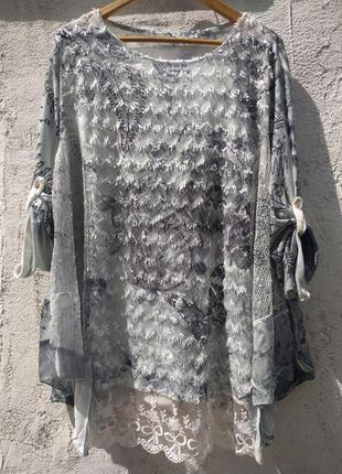 Шикарная итальянская туника, свитшот, реглан, блузка (вискоза) италия