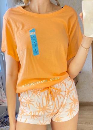 Яркая летняя пижама , комплект для пляжа можно аутлет новый