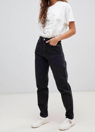 Чёрные джинсы wrangler оригинал с высокой посадкой