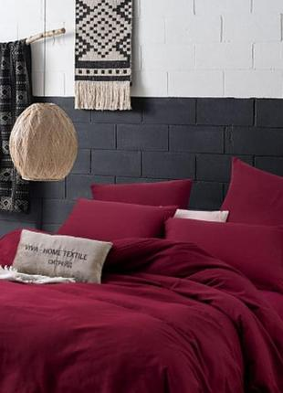 Однотонна постільна білизна. красное  постельное белье
