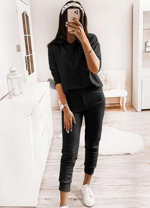 Чорний костюм штани і світшот