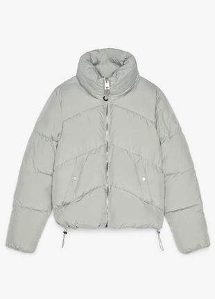 Куртка пуховик мятная стеганая цвета bershka оригинал