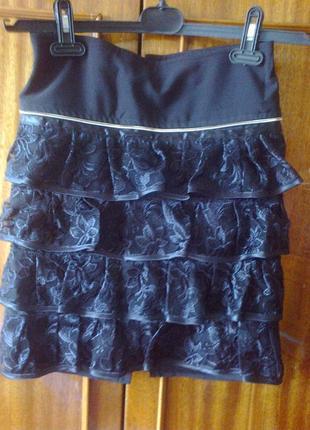 Детская юбка  с волланами эксклюзив размер 38