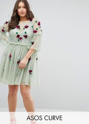 Ликвидация склада!!! эксклюзивное платье мелиссового цвета asos!