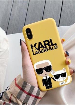 Чехол на айфон 10 новый karl lagerfeld