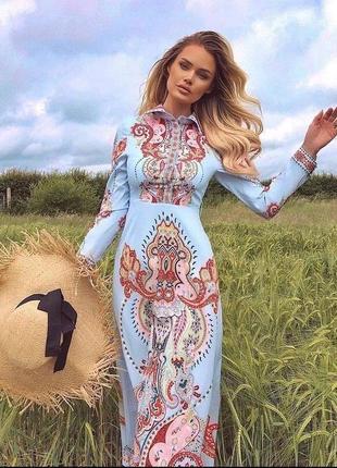 Нежное платье с шикарным орнаментом турция
