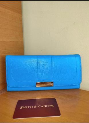 Фірмовий шкіряний гаманець-портмоне американського бренду smith & canova!!! оригінал!!!