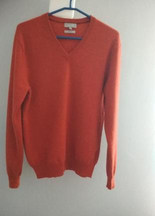 Терракотовый свитер из 💯% кашемира