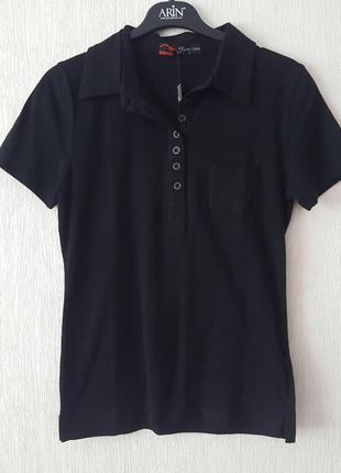 Базовое поло футболка черная