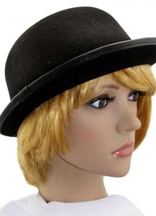 Черная маскарадная фетровая шляпа унисекс