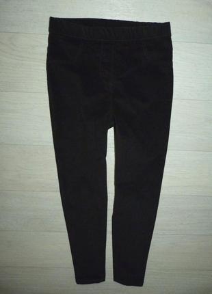 Отличные черные скинни, штаны george 8-9 лет