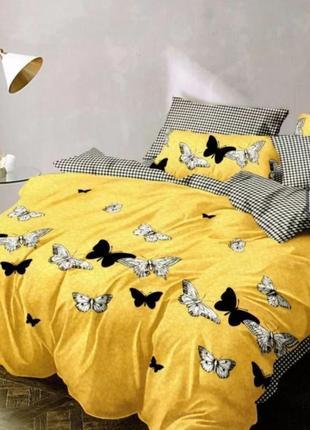 Натуральный хлопковый постельный комплект солнечное лето.разные размеры!сделано в украине!