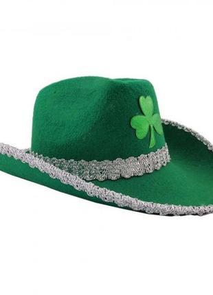 Зеленая шляпа ковбойка ирландия патрик октоберфест