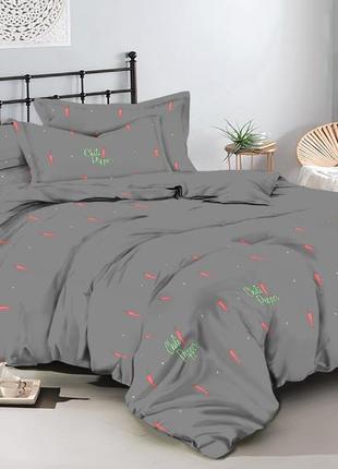 Натуральный постельный комплект перчики чили. разные размеры! сделано в украине!