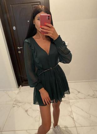 Новый красивый изумрудное платье-комбинезон на рост макс 165см