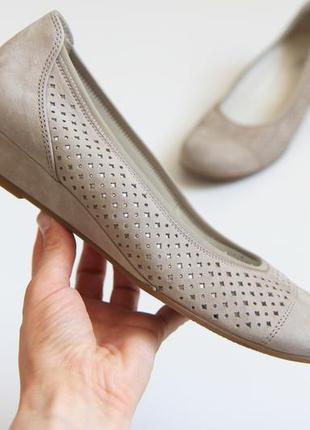 Gabor comfort easy walking замшевые туфли балетки