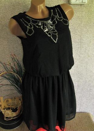 Платье asos лёгкое красивое с бисером eur 34/ 36