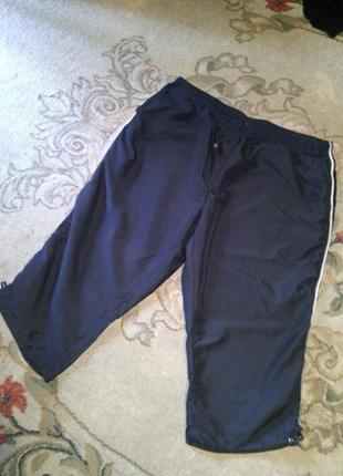 Бриджи -унисекс,с карманами и лампасами (можно для спорта),на резинке,большого размера