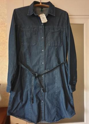 Платье-рубашка benetton