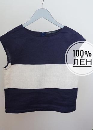 Топ блуза лён