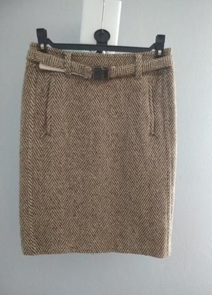 Твидовая шерстяная юбка
