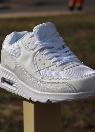 Классические мужские белые кроссовки под nike air max весна лето осень