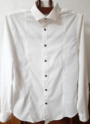 Белоснежная стильная рубашка от smog р s-m/46-48