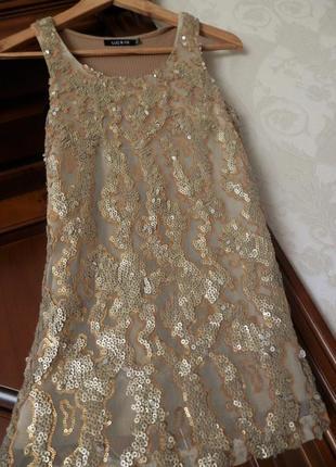 Крутий топ, блуза luc&ce, під срібло золото в стилі massimo dutti