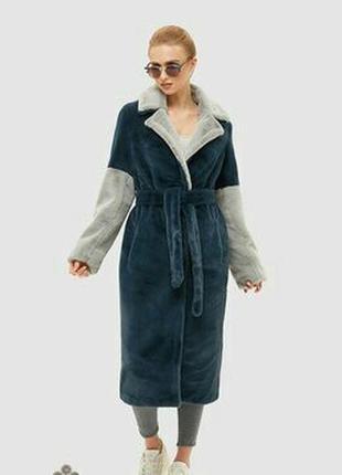 Шикарное плюшевое тедди пальто