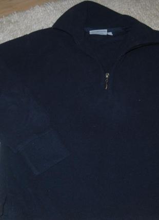 Темно синий  флисовый свитерок