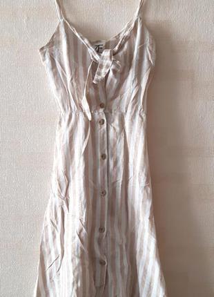 Льняное платье сарафан